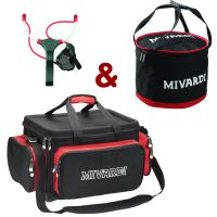Set taška Team Mivardi Compact + Groundbait mixing bag L + Prak M