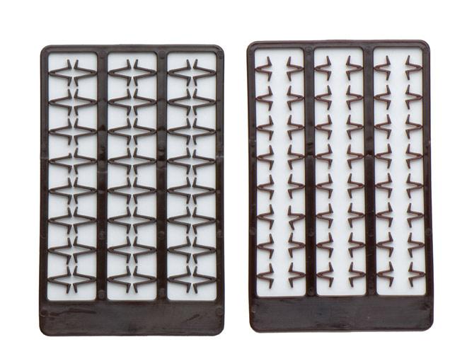 Boilie stoppers V medium (brown) 48pcs rack