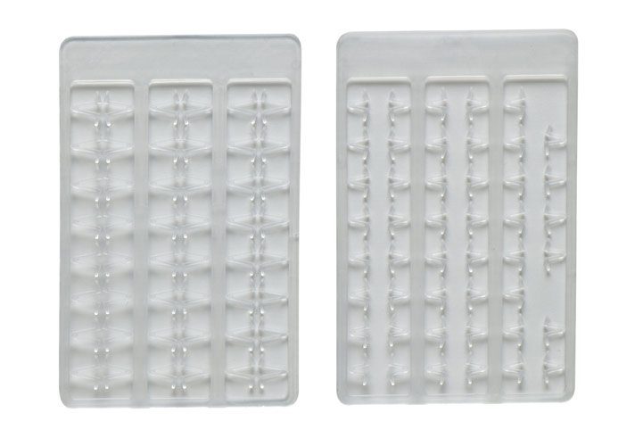 Boilie stoppers V medium (clear) 48pcs rack