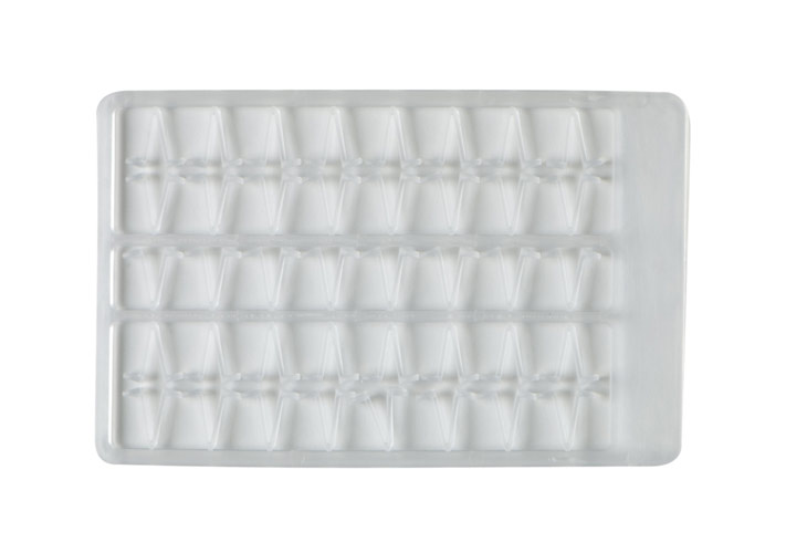 Boilie stoppers V small (clear) 48pcs rack