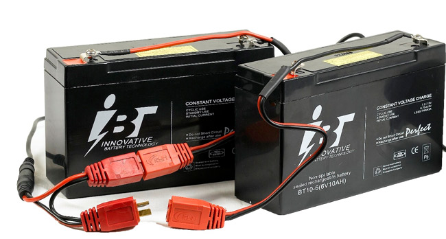 Náhradné batérie k loďke Scout 1-2 6V 12AH (pár)
