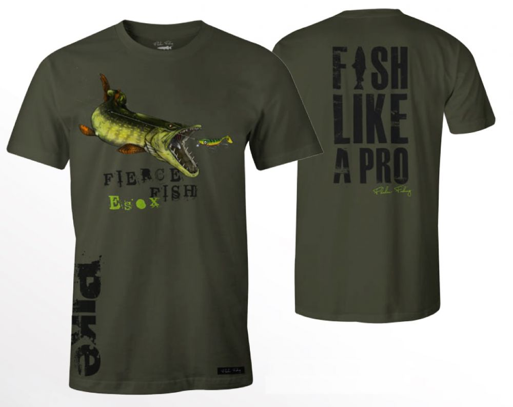 Tričko Hungry Pike zelené M