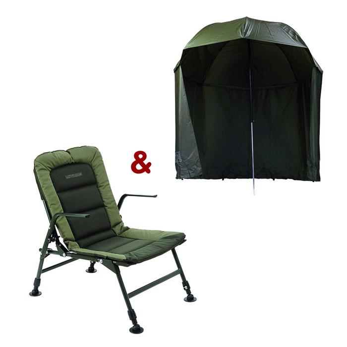 Stolička Premium + dáždnik Green s bokmi